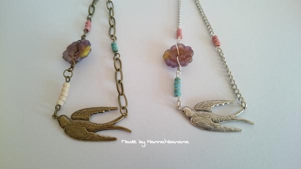 Bird necklaces