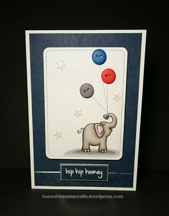 Hero Arts Elephant handmade card the daily marker 30 day challenge