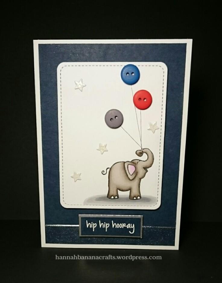 Hero Arts Elephant handmade card the daily marker 30 day challenge