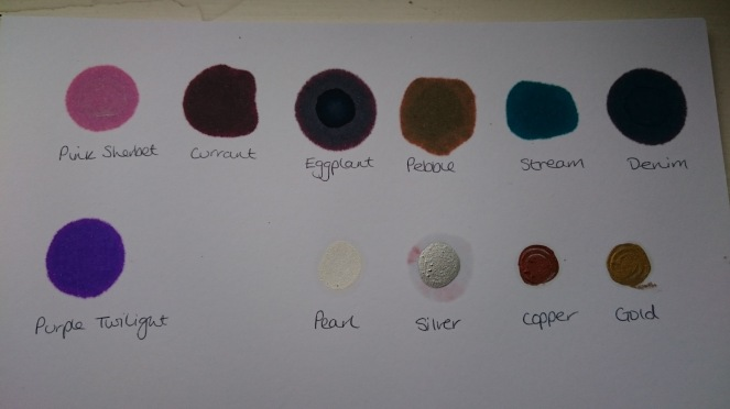 Ranger Tim Holtz alcohol colour swatch