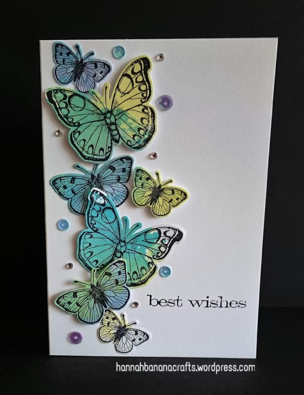 Distress ink butterflies