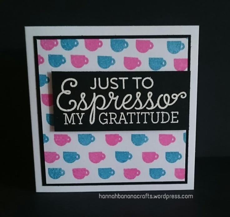 MFT Perk Up stamps coffee espresso gratitude card