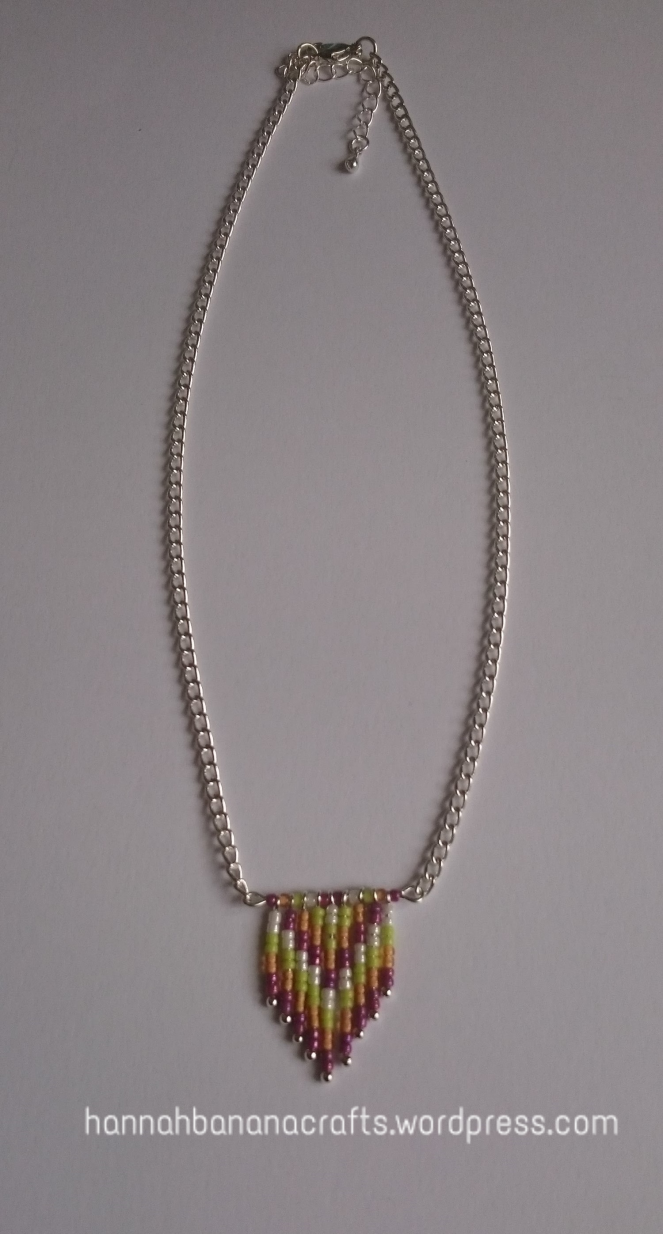 Beaded arrow necklace