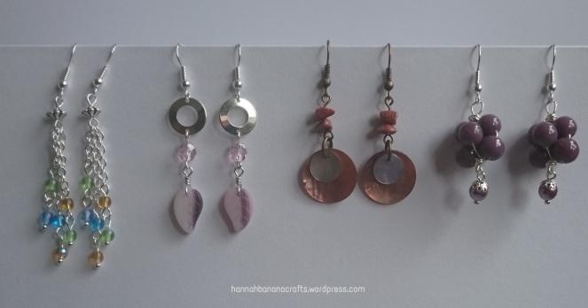 Various beaded earrings