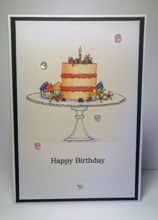 Cake Watercolour card
