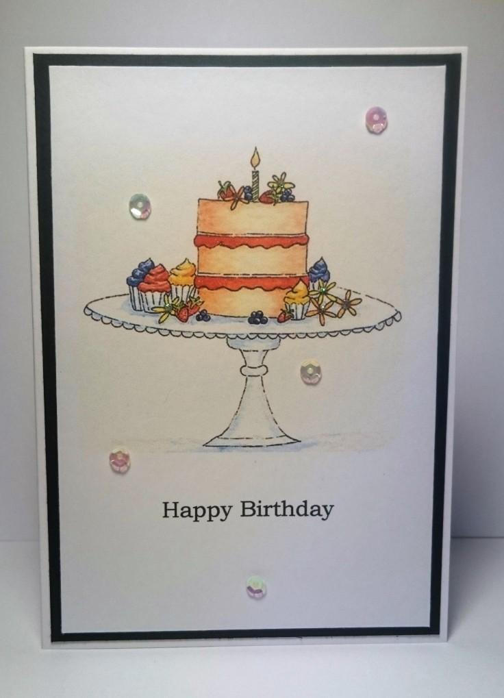Cake Watercolour card