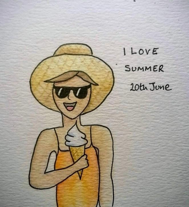 Doodle I Love Summer