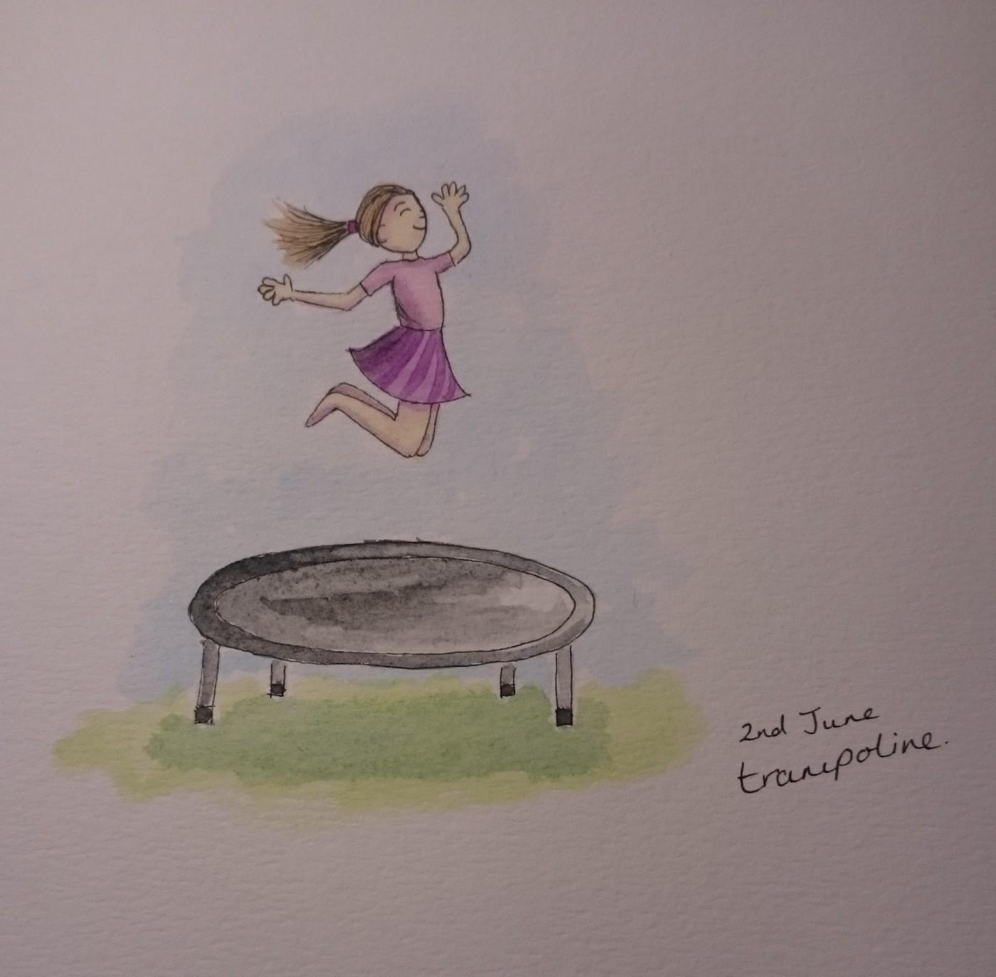 Trampoline doodle