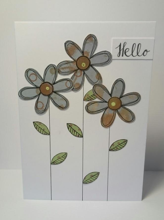 Gelli print card
