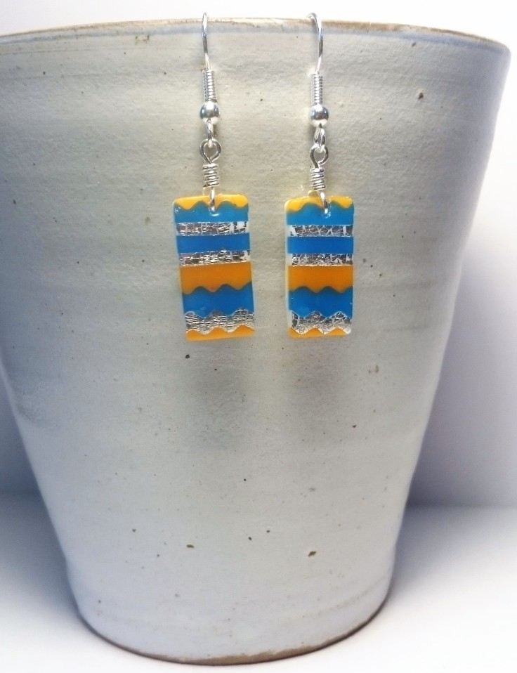 Polymer Clay Aztec earrings 2