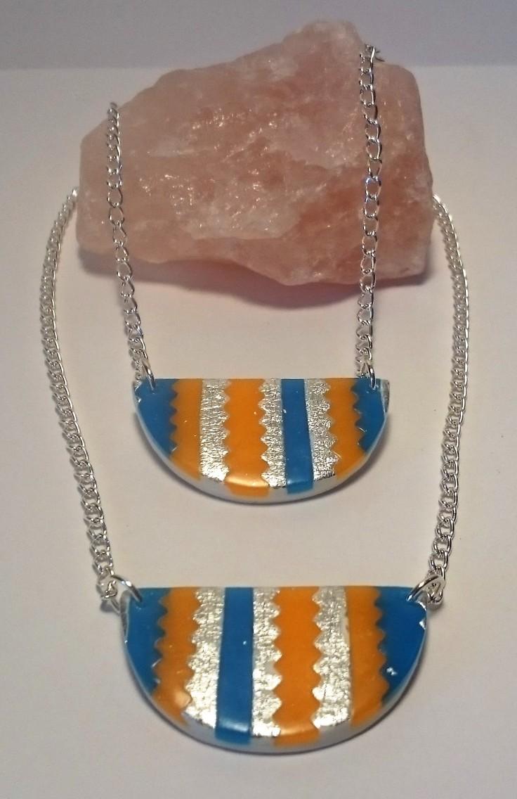 Polymer Clay Aztec necklaces