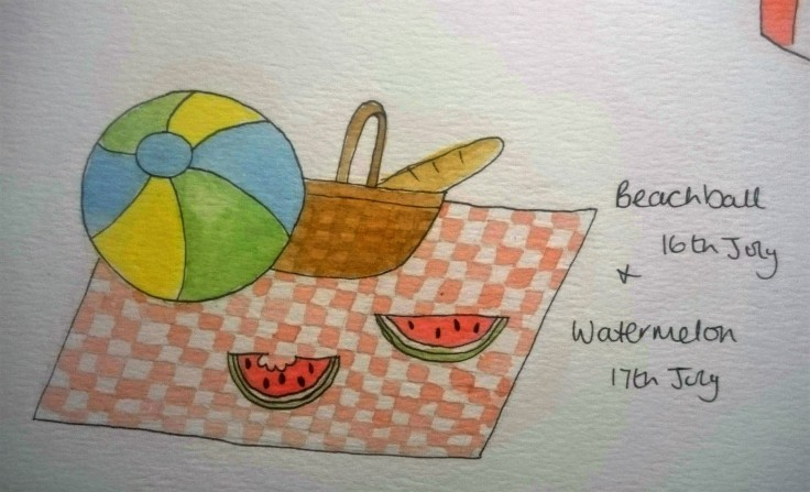 Doodle Beachball and Watermelon