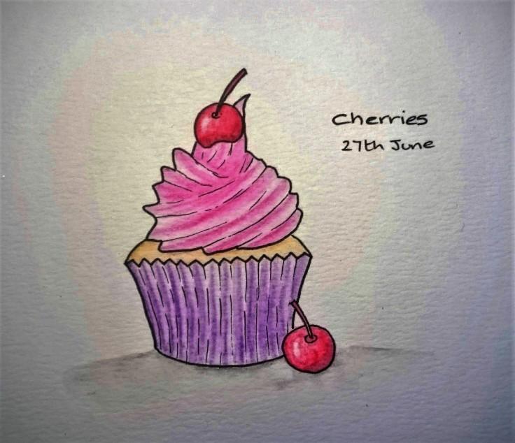 Cherries doodle