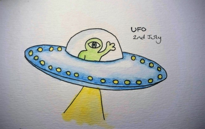 UFO doodle