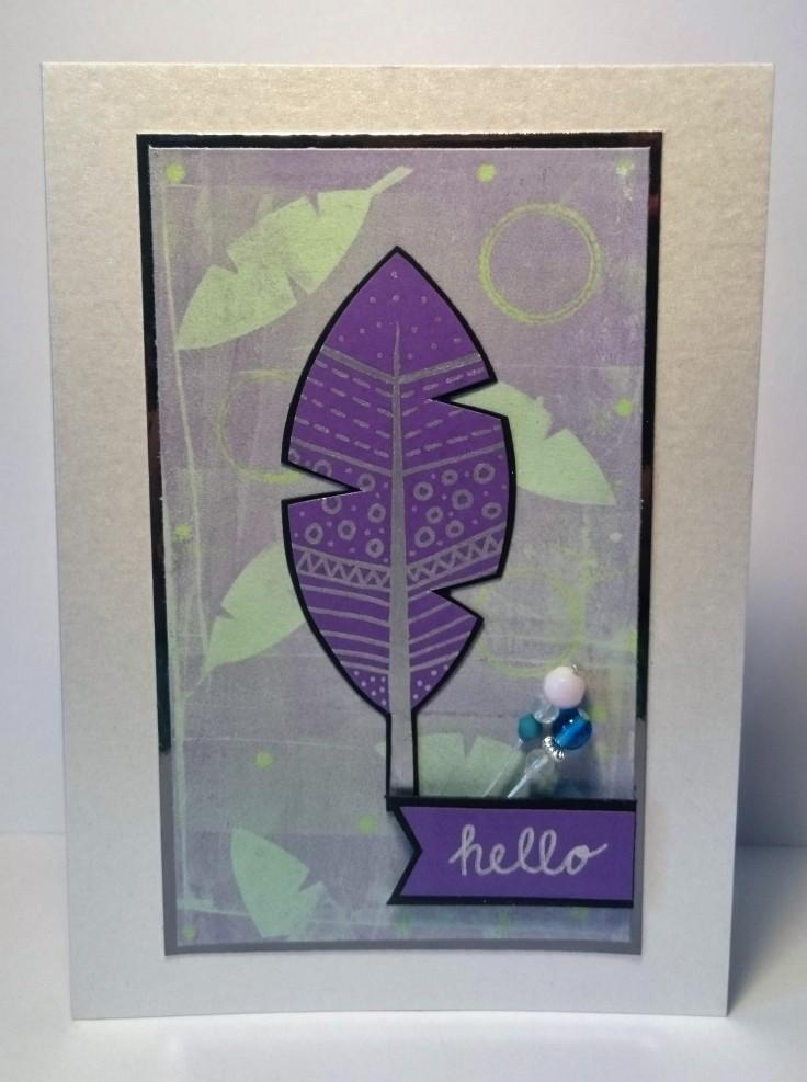 Feather and bead embellishments handmade card.jpg
