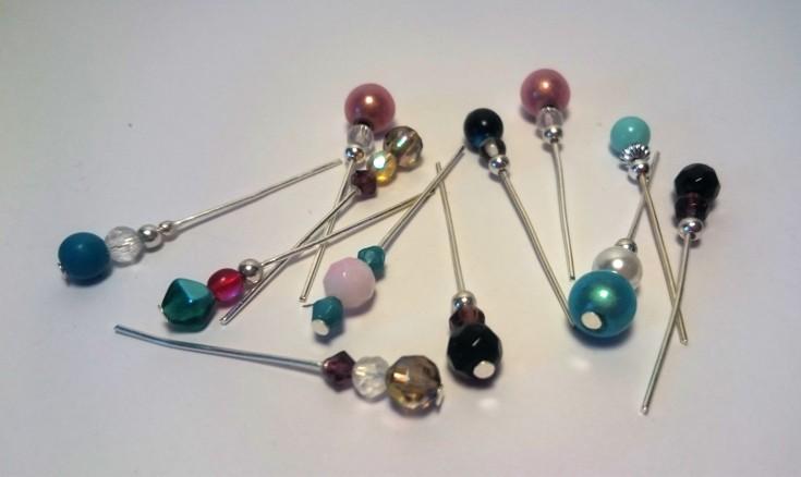 Headpin and bead embellishments