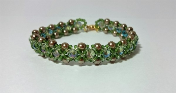 Right angle weave bracelet