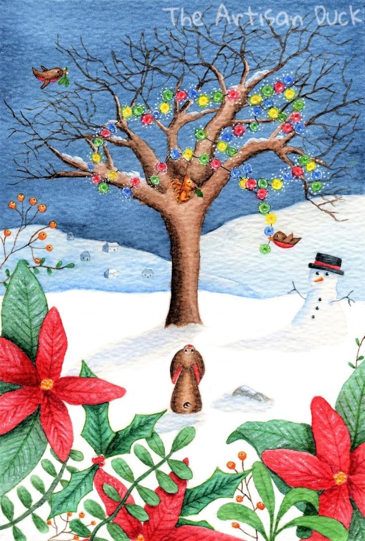 Winter magic illustration
