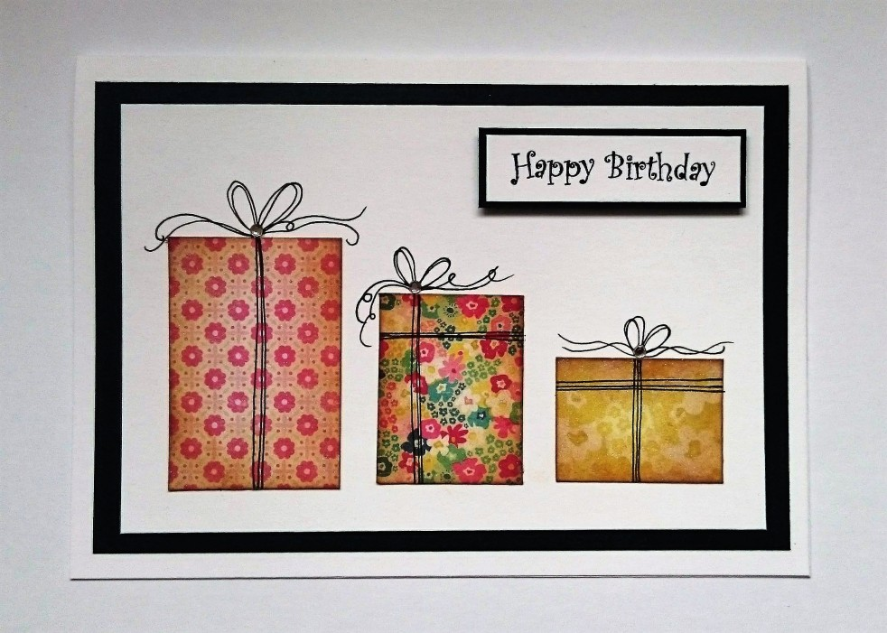 Patterned paper scraps card