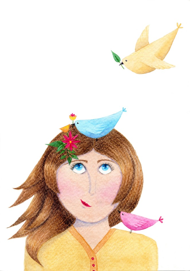 Week 2 feathered animals illustration