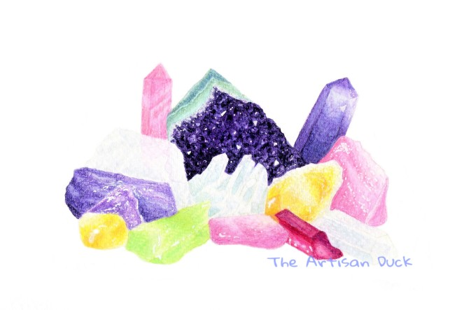 Crystal garden illustration