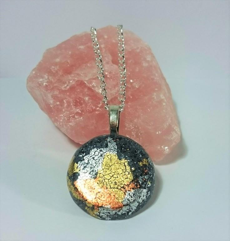 Faux concrete necklace 1