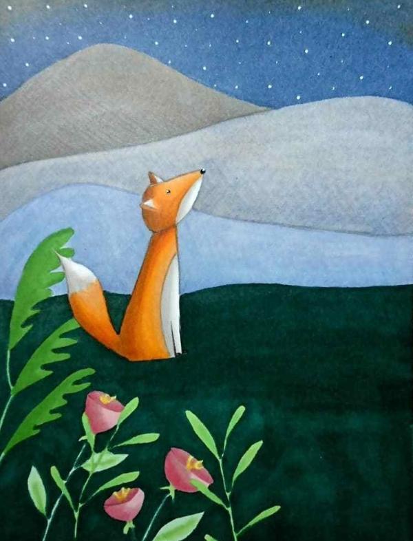 Fox promarker illustration