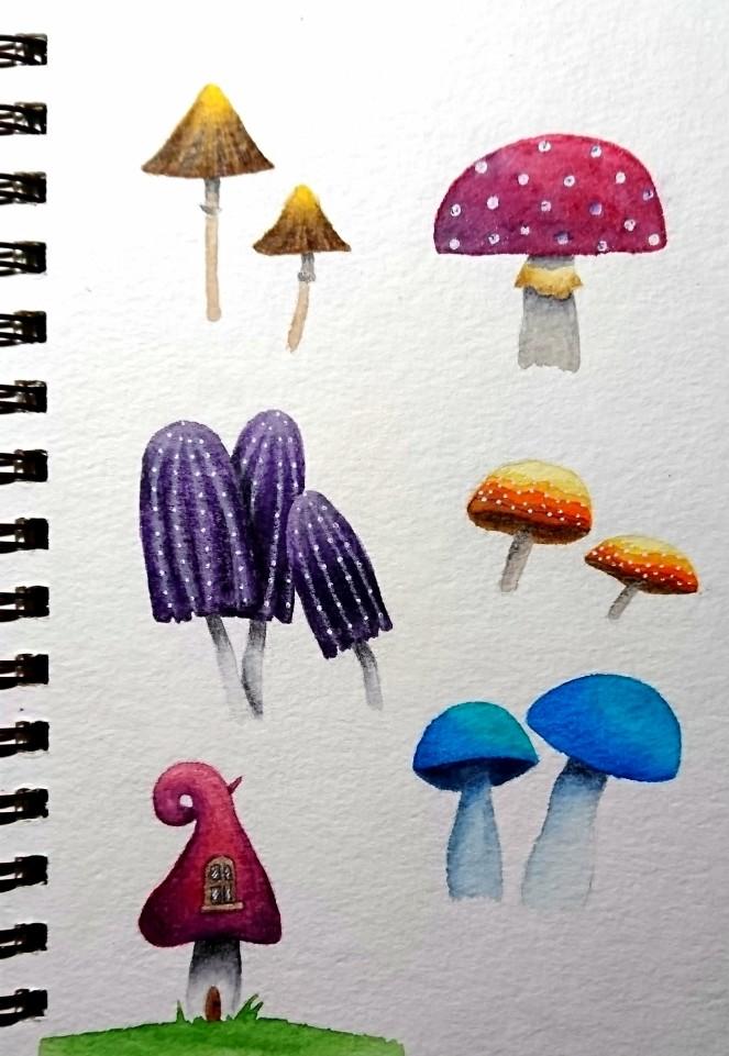 Mushroom doodles