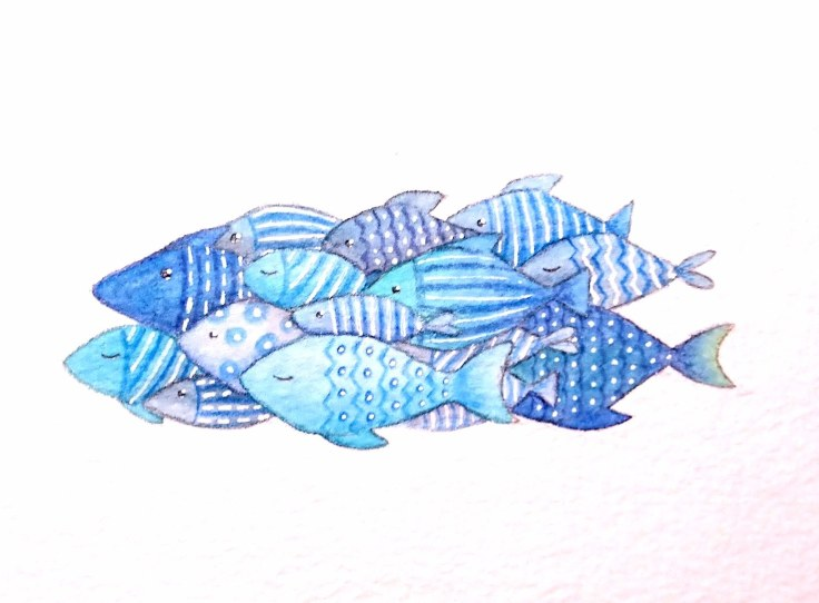 Watercolour fish illustration