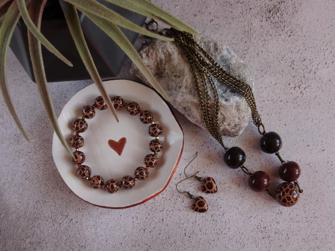 Leopard print jewellery