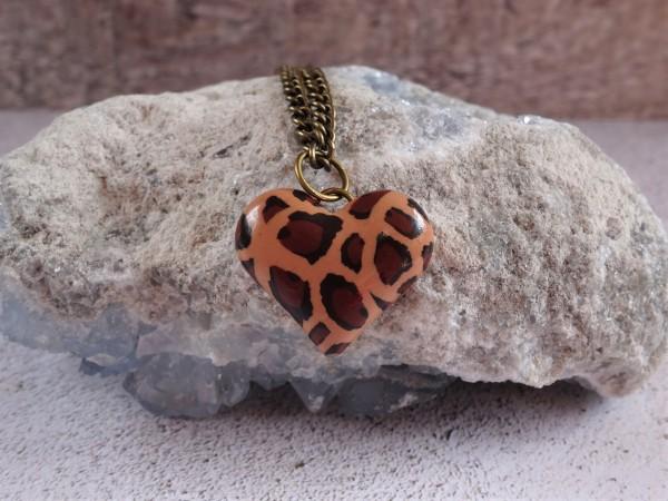 Leopard print necklace