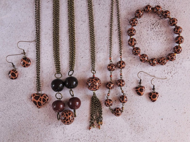 Leopard print jewellery collection