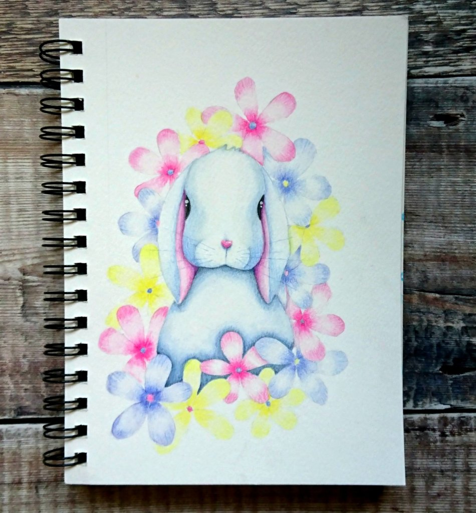 Watercolour rabbit illustration