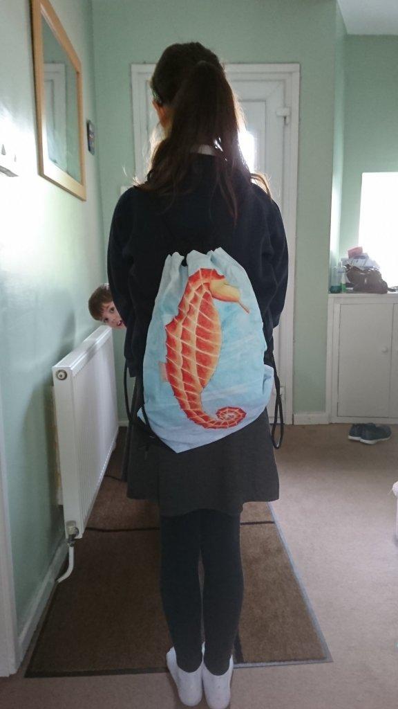 Seahorse Redbubble bag