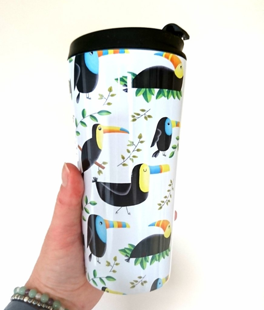 Toucan Redbubble travel mug