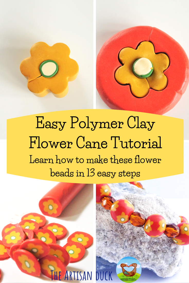 Easy beginner polymer clay flower cane tutorial