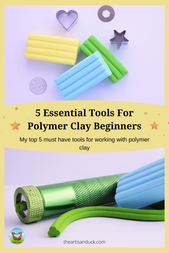 A complete guide to my top 5 essential tools for the polymer clay beginner