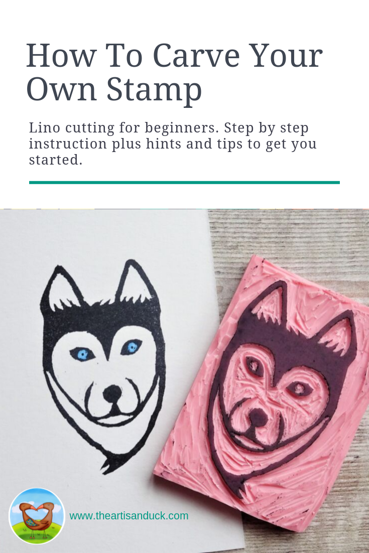 How to carve your own stamp Lino cutting for beginners