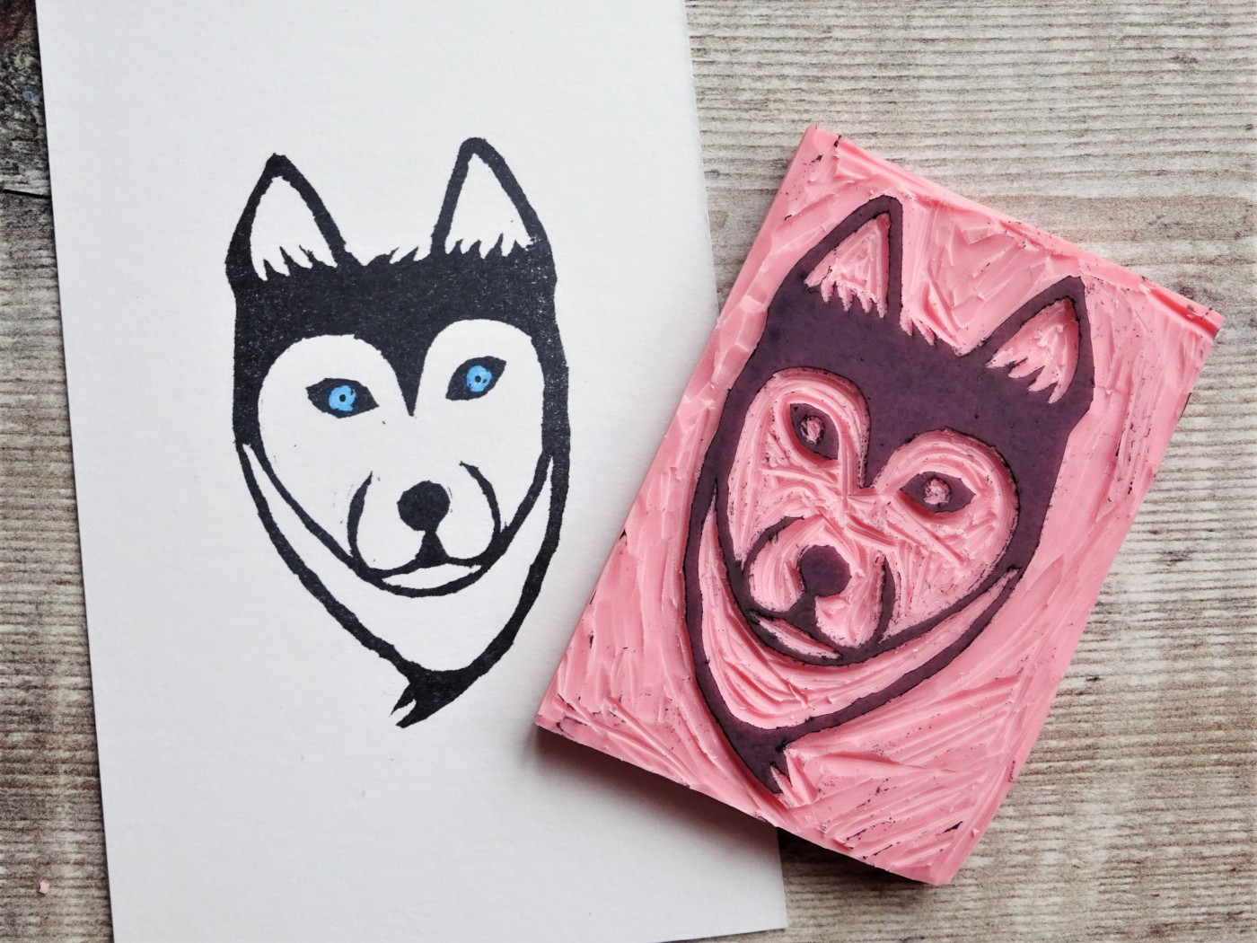Stamp carving Lino cutting for beginners