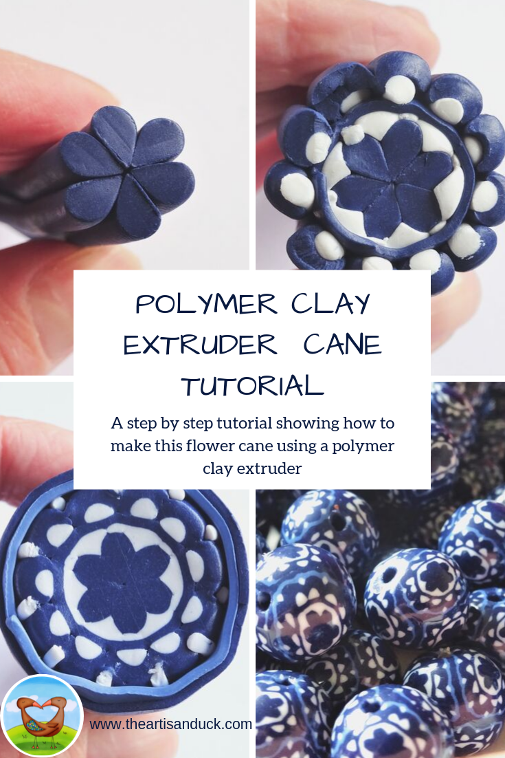 Polymer Clay Extruder Flower Cane Tutorial
