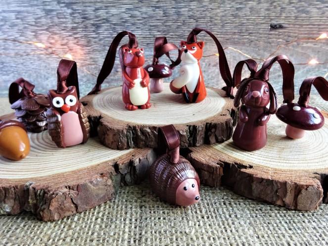 Woodland Christmas Animals decorations