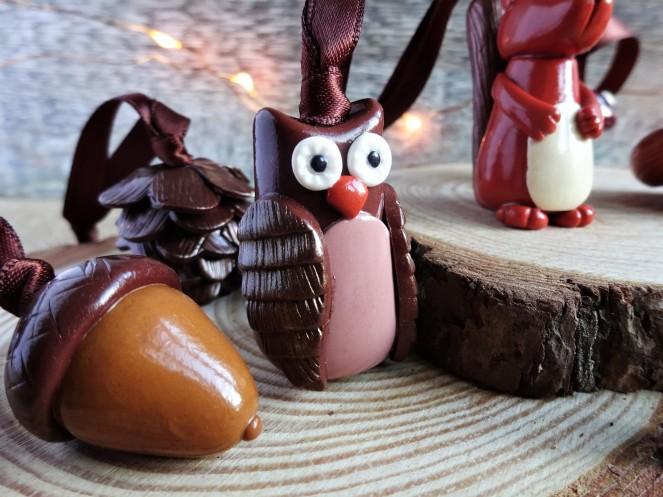 Woodland Christmas Owl Decoration
