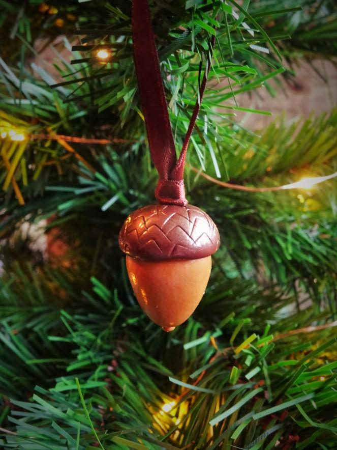 Woodland Christmas Acorn decoration