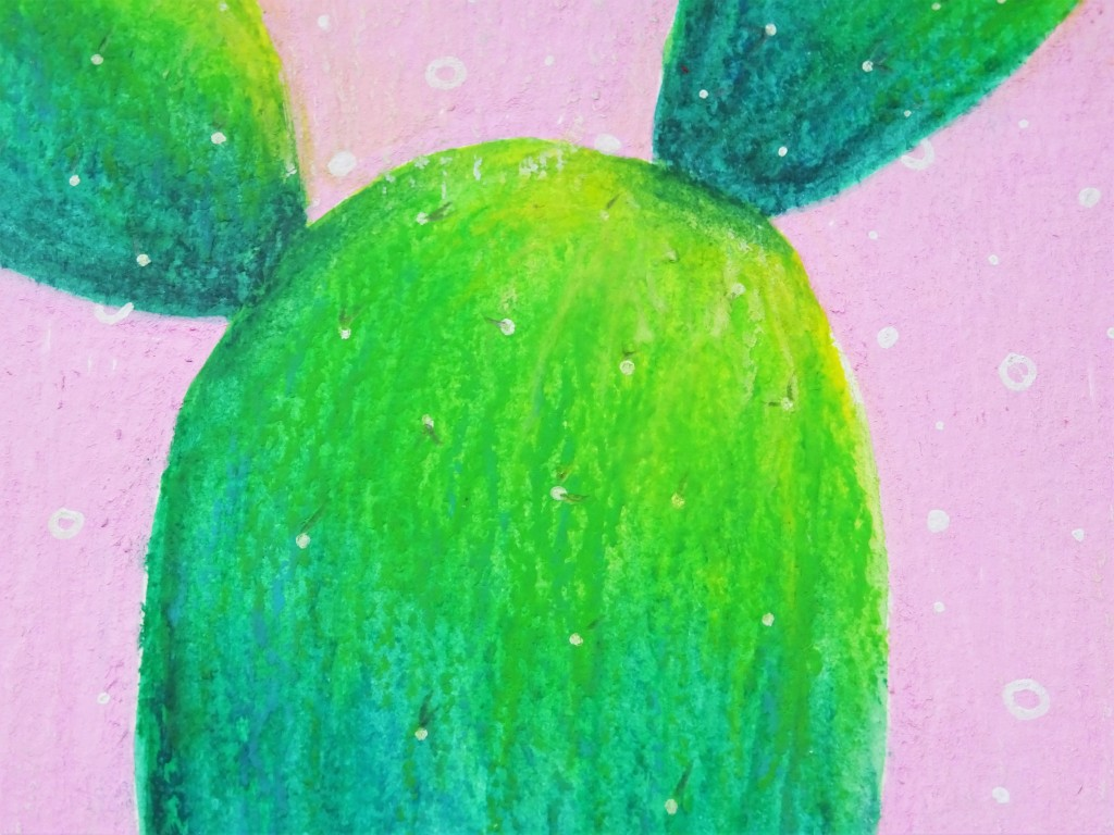 Prima art philosophy water soluble oil pastel cactus illustration / How to use water soluble oil pastel