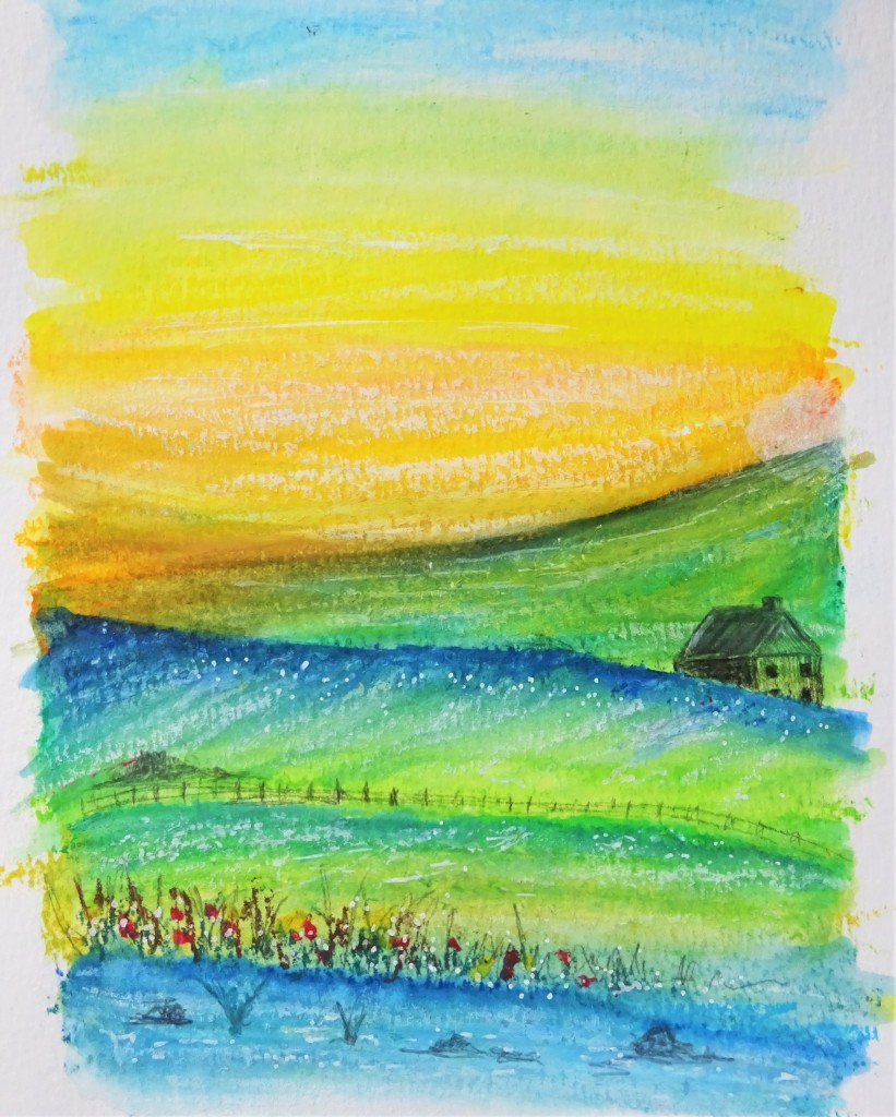 Prima art philosophy water soluble oil pastels landscape / how to use water soluble oil pastels
