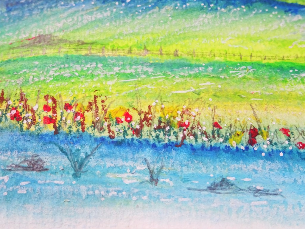 Prima art philosophy water soluble oil pastels landscape illustration / how to use water soluble oil pastels
