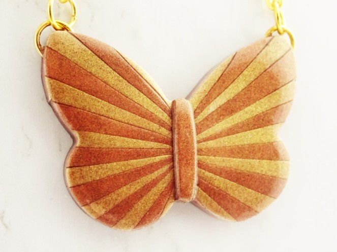 How to make a butterfly pendant from polymer clay tutorial