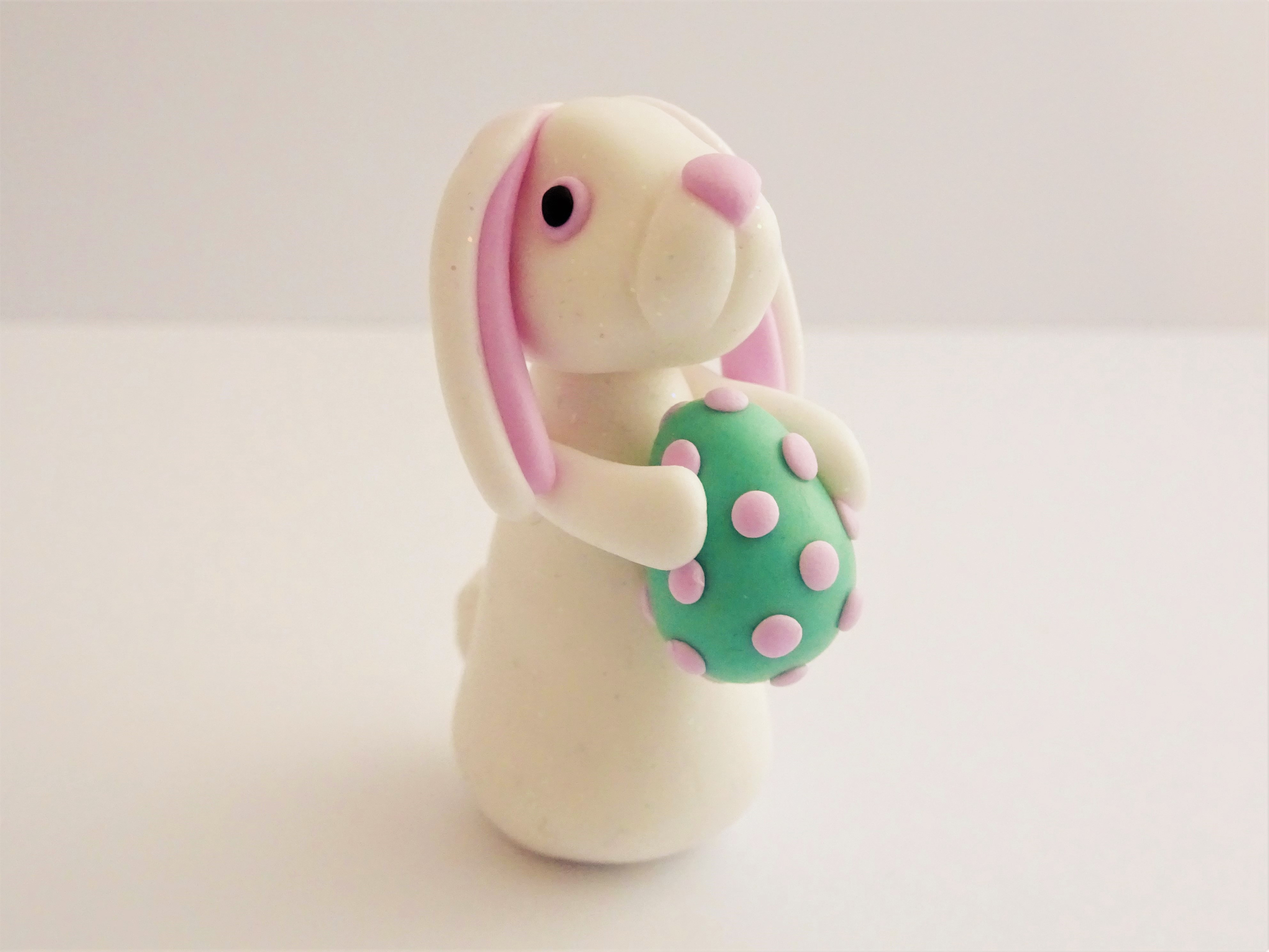 Easter bunny spring rabbit polymer clay tutorial
