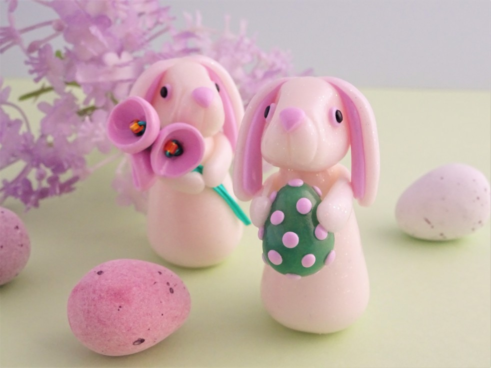 How to make a polymer clay rabbit easter bunny