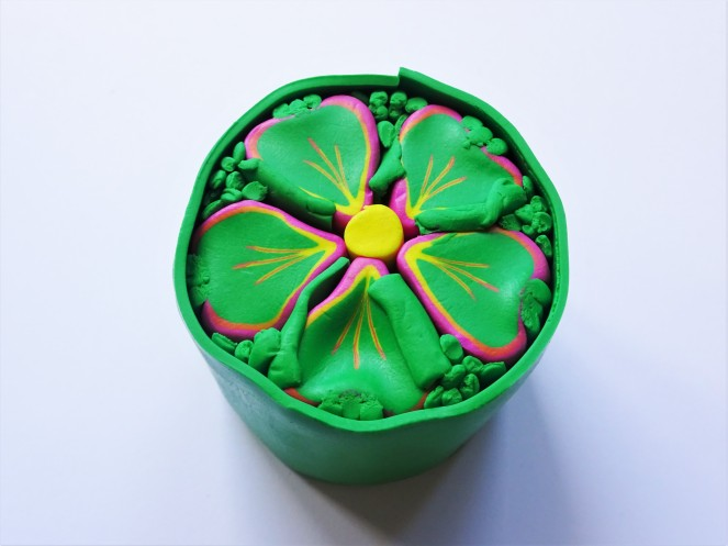 Tropical flower cane polymer clay tutorial